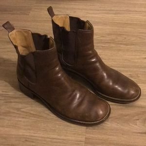 ROCKPORT LEATHER BOOTS | 9 1/2, BROWN WOMENS